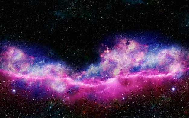 별이 빛나는 우주 성운과 심 우주 은하