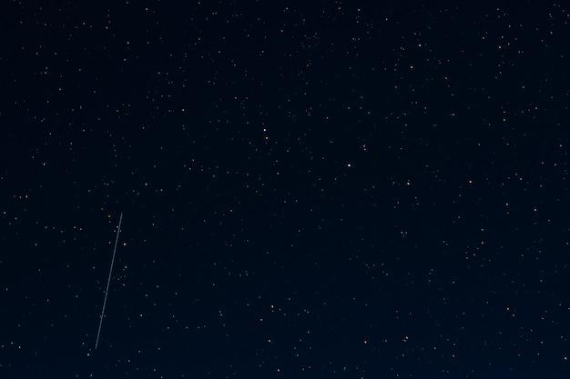 Starry dark night sky with stars