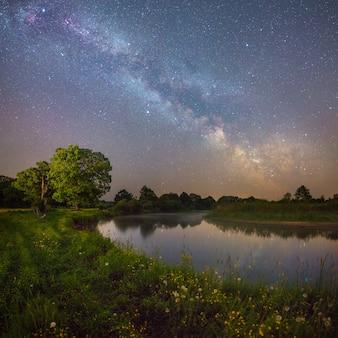 별이 빛나는 밤 풍경