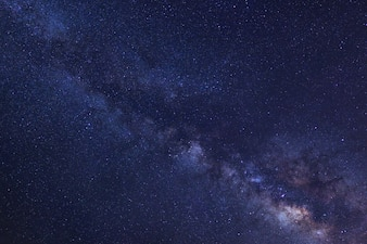 Starry night sky and milky way galaxy with stars and space dust in the universe