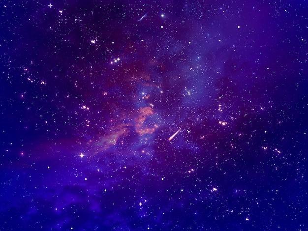 Starry night sky scene