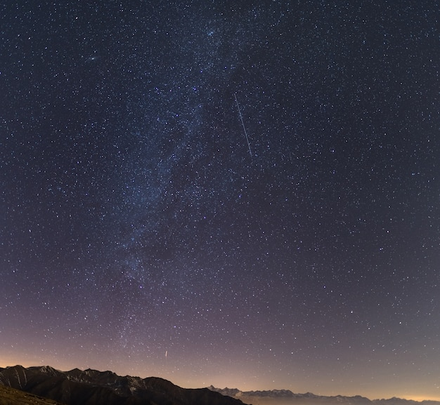Starry sky from the alps