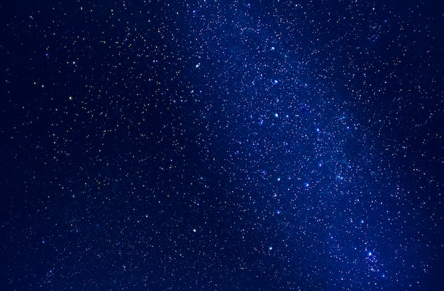 Starry sky with stars and milky way