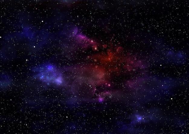 Starry space nebula