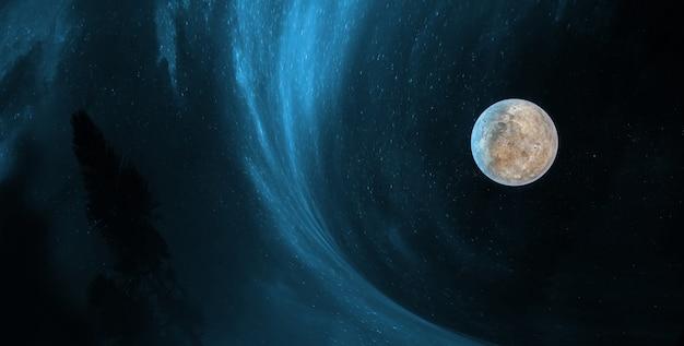 Звезды и галактики в космическом пространстве, демонстрирующие красоту космических исследований