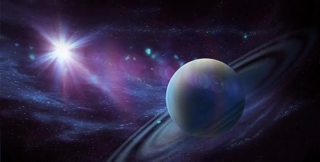 우주 탐사의 아름다움을 보여주는 우주의 별과 은하