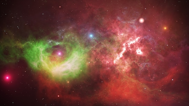 밤하늘, 성운, 은하계의 별