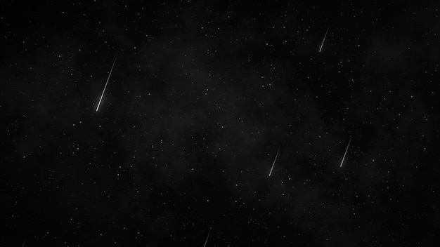 Stars in night sky, starry sky turning around the earth