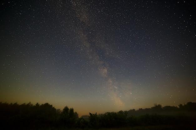 夜空の天の川銀河の星