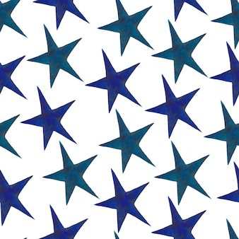 Stars - a set of hand-drawn watercolor stars, isolated on white background.