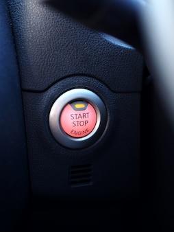 Start button in car closeup.