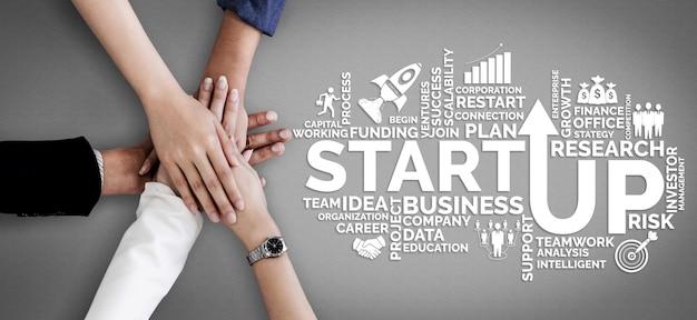 창의적인 사람들 개념의 사업 시작