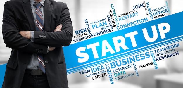 창조적 인 사람 개념의 사업을 시작