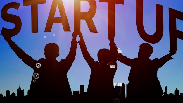 창조적 인 사람들의 비즈니스 시작 개념