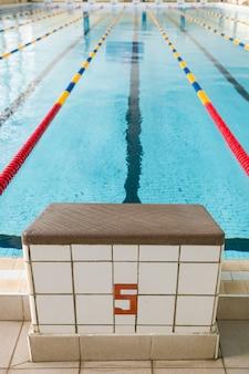 Стартовые площадки № 5 и дорожки в бассейне и соревнованиях