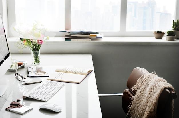 コンピューター画面上のスタートアップ事業計画