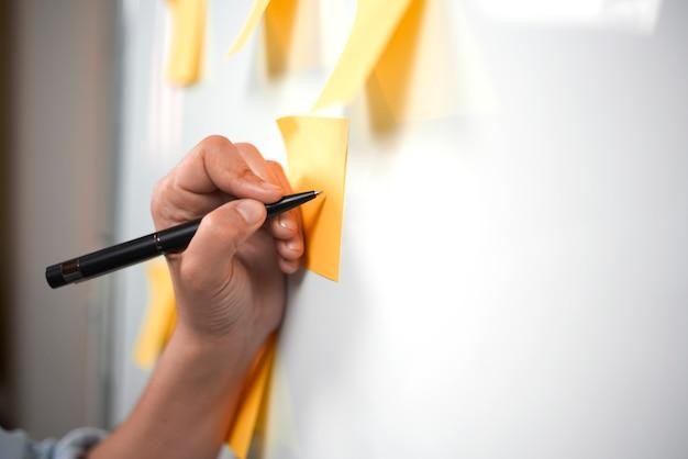 スタートアップの計画。戦略に取り組むクリエイティブチーム