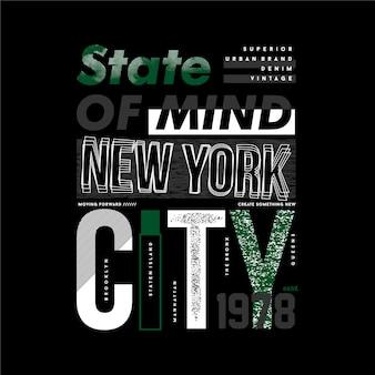 뉴욕시 추상 그래픽 타이포그래피 벡터 t 셔츠 디자인의 상태