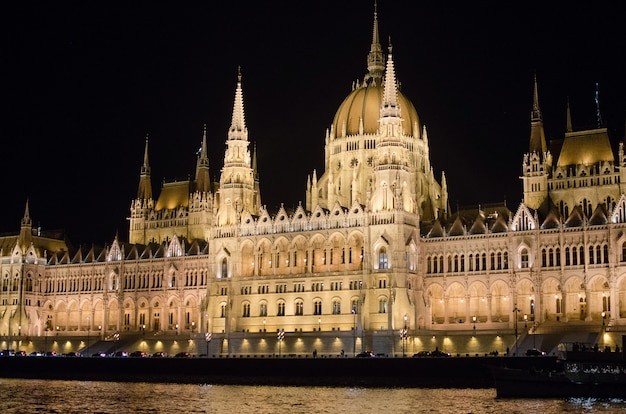 State parliament of budapest at night, hungary