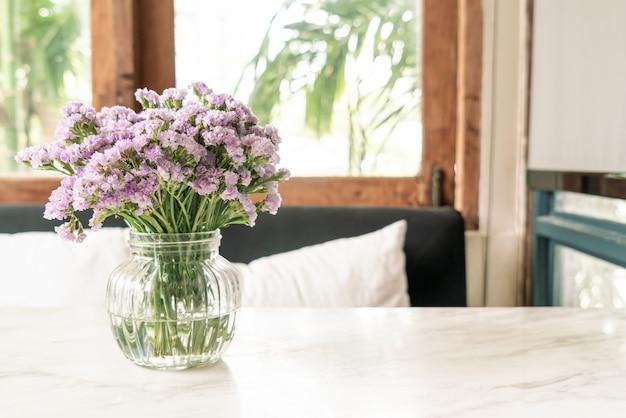 Statice flower in vase