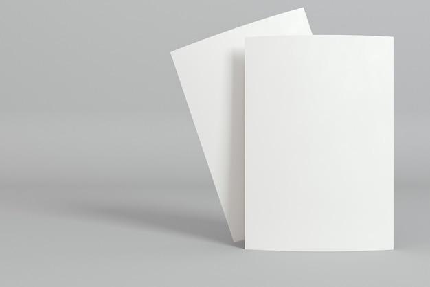 文房具の空白の名刺と影