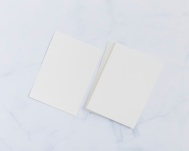 Stationery blank business cards concept