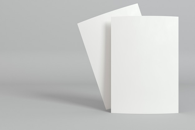 Stationery blank business cards and shadows