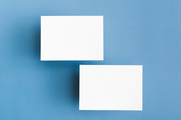 Stationery business cards concept
