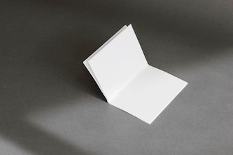 Stationery concept with folded page