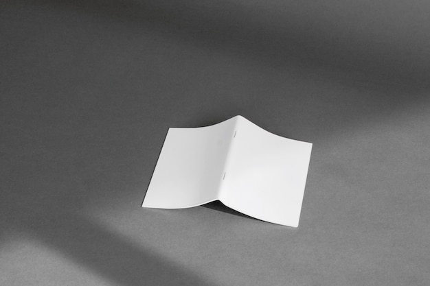 Stationery concept with sheet of folded paper