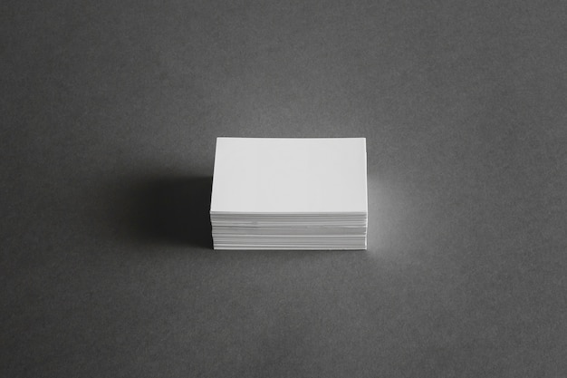 Stationery concept with stack of business cards