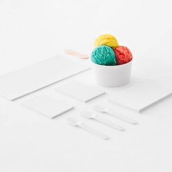 文房具アイスクリームのコンセプト