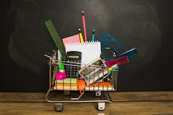 Stationery laid in little cart