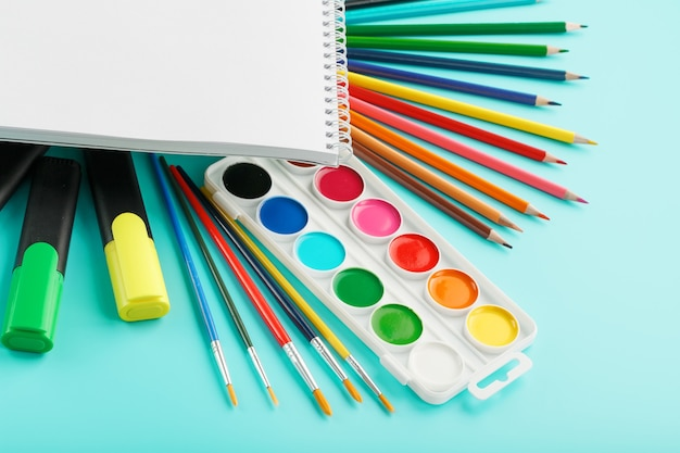 Stationery supplies for school