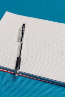Stationery on the table, mock up