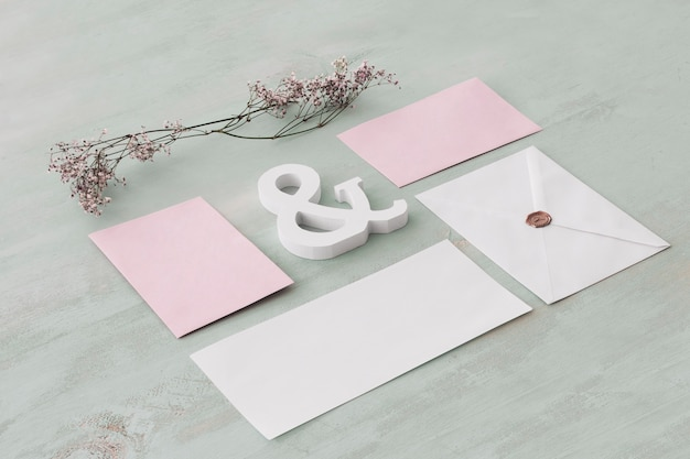 Stationery wedding concept