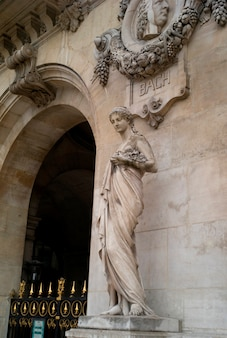Statue adorning the palace garnier in paris france