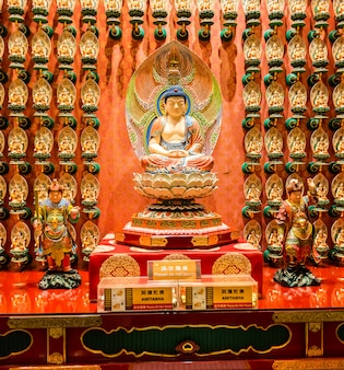The statue of buddha in chinese buddha tooth relic temple