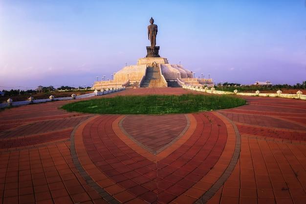 Statue of buddha with sunset,bethesda dark tone and sunset