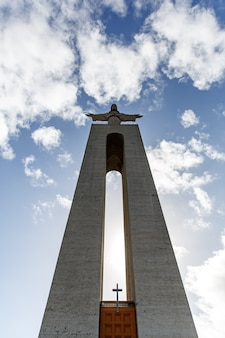 Statue of christ in lisbon, sanctuary of christ the king - cristo rei Premium Photo