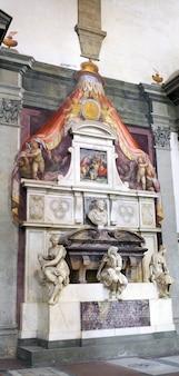 Statue in duomo santa maria del fiore and campanile. florence. inside interior. italy