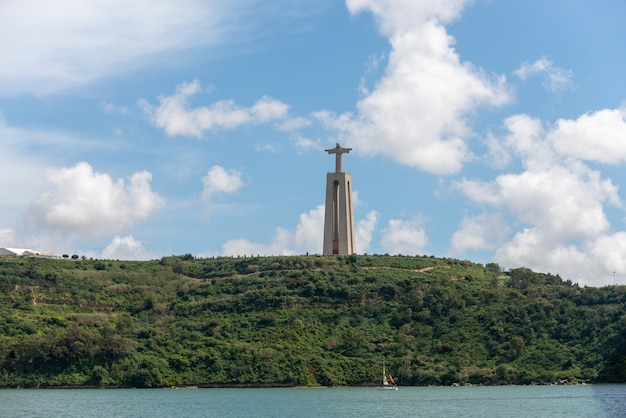 The statue of jesus christ in lisbon, portugal