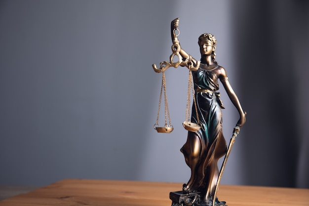 The statue of justice symbol