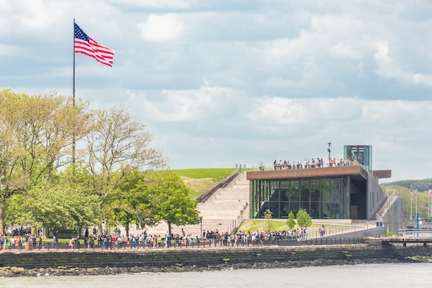 Statue of liberty museum on its opening day on liberty island, ny usa