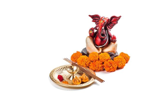 ヒンドゥー教の神ガネーシャの像。