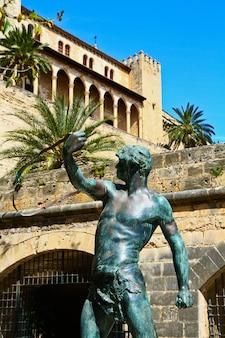 Statue in palm of mallorca