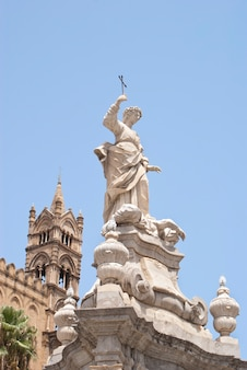 Statue of santa rosalia, cathedral of palermo