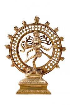 Statue of shiva nataraja, lord of dance isolated