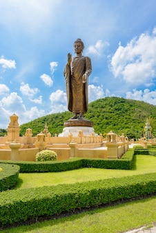Statues of buddha in a thai template