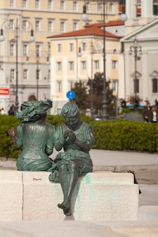 Statues called le sartine, trieste